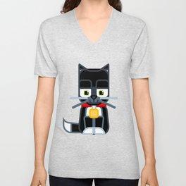 Super cute animals - Cute Kitty Cat Black Unisex V-Neck