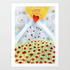 Love is Everything Art Print