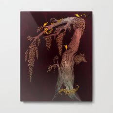 Tree Birds Metal Print