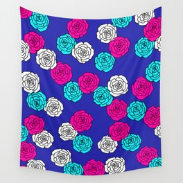 Pop Roses Pattern Wall Tapestry