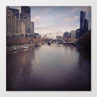 melbourne Canvas Prints featuring Melbourne by Sam Warren