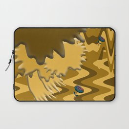 Shades of Brown Waves Laptop Sleeve