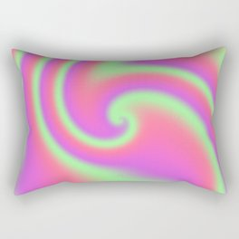 Tutti Frutti Ribbon Candy Fractal Rectangular Pillow