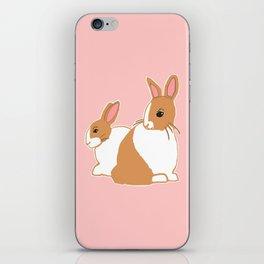 Blonde Dutch Rabbits iPhone Skin
