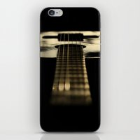 guitar iPhone & iPod Skins featuring guitar by Ingrid Beddoes