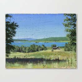 cabin - by phil art guy Canvas Print