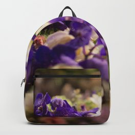 Bouquet of flowers, violets Backpack