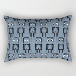 Super cute animals - Cheeky Blue Monkey Rectangular Pillow