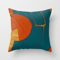 scorpio Throw Pillows featuring Scorpio by Fernando Vieira
