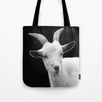 goat Tote Bags featuring Goat by BACK to THE ROOTS