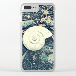 Even a snail will eventually reach its destination! Clear iPhone Case