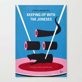 No922 My Keeping Up with the Joneses minimal movie poster Canvas Print