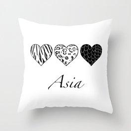 Asian heart patterns Throw Pillow