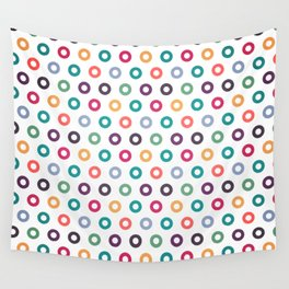 Colorful circle seamless pattern design background Wall Tapestry