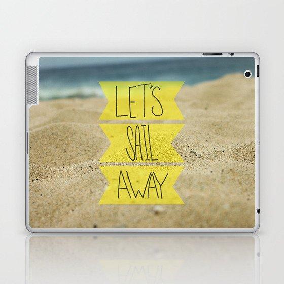 Let's Sail Away: Sandy Beach Laptop & iPad Skin