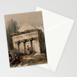 Vintage Print - The Holy Land, Vol 1 (1842) - The tomb of Zechariah in the valley of Jehoshaphat Stationery Cards