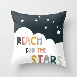 Reach stars - Kids Art Throw Pillow