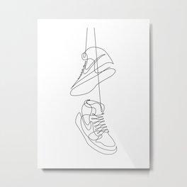Sneakers art,Casual Shoes,Hipster Prints, Wall Art,Large Poster Decor,shoe art ,Black White Metal Print