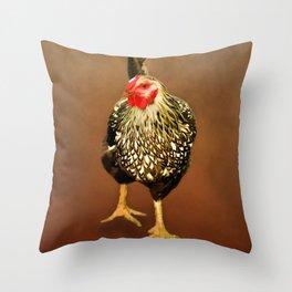 Ms Hen Throw Pillow