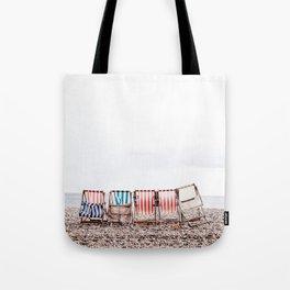 Stuff chairs beach Tote Bag