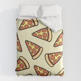 Pepperoni Pizza Pattern Comforters