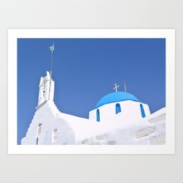 Paros Island Church, Greece Art Print