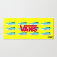 vans Canvas Prints featuring Vans by Jayesh Jayman Joshi