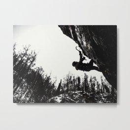Climbers Silhouette #1 Metal Print