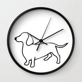 Dachshund Line Art Drawing Wall Clock