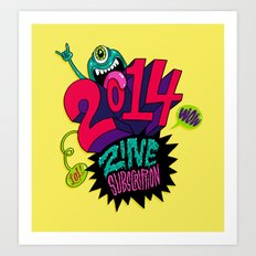 2014 Zine Subscription! Art Print