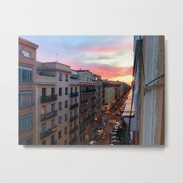 Madrid Skyline Metal Print