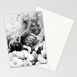 two snails make love wsbw Stationery Cards