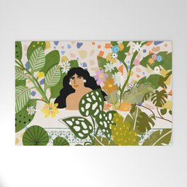 Bathing with Plants Welcome Mat