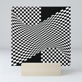 black white Mini Art Print