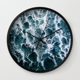 Minimalistic Veins in a Wave  - Seascape Photography Wall Clock