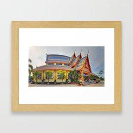 Fisheye Temple Framed Art Print