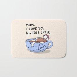 I love you a whole latte Bath Mat