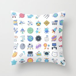 CUTE OUTER SPACE / SCIENCE / GALAXY PATTERN Throw Pillow