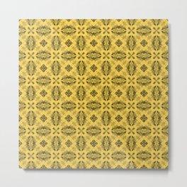 Primrose Yellow Diamond Floral Metal Print
