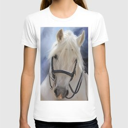 Painted White Horse head T-shirt