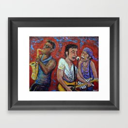 Prove It All Night -  Bruce Springsteen, Clarence Clemons, Steven Van Zandt Framed Art Print