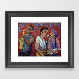 Prove It All Night -  Bruce Springsteen, Clarence Clemons, Steven Van Zandt Framed Art Print
