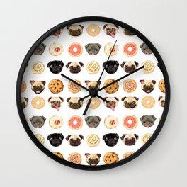 Sweets & Pugs Wall Clock