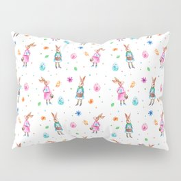 Easter pattern with rabbits and eggs Pillow Sham