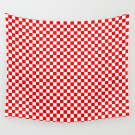 Large Australian Flag Red and White Check Checkerboard Wall Tapestry