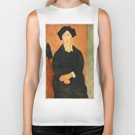 """Amedeo Modigliani """"The Italian Woman"""" Biker Tank"""