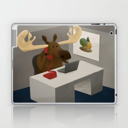 Maurice, the moose who wanted to work in an office Laptop & iPad Skin