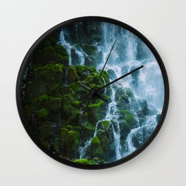 Water columns Wall Clock