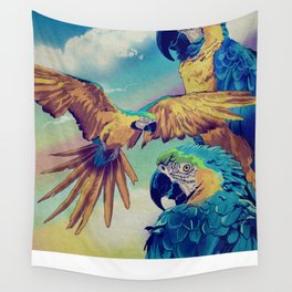 The Three Macaws Wall Tapestry