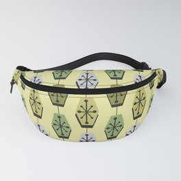 Mid Century Modern Hexagons Chartreuse Fanny Pack